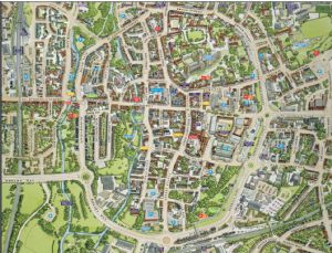 Cityscapes Street Map Of Canterbury 400 Piece Jigsaw Puzzle 470mm x 320mm (hpy)